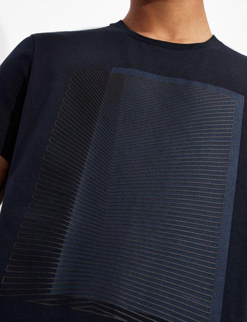 Armani Exchange maglietta con stampa quadrata da uomo-3