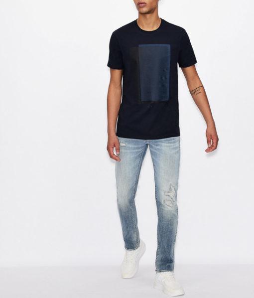 Armani Exchange maglietta con stampa quadrata da uomo-6
