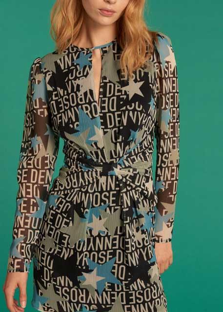 DENNY ROSE abito fantasia con stelle-1