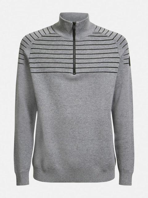GUESS maglia uomo grigia con mezza zip-2