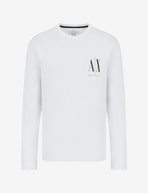 ARMANI EXCHANGE t-shirt manica lunga logo AX-5