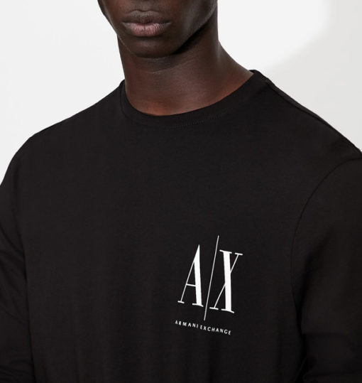 ARMANI EXCHANGE t-shirt manica lunga logo AX-2