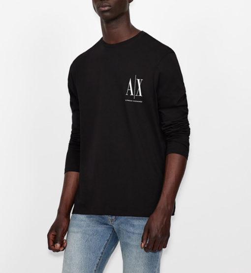 ARMANI EXCHANGE t-shirt manica lunga logo AX