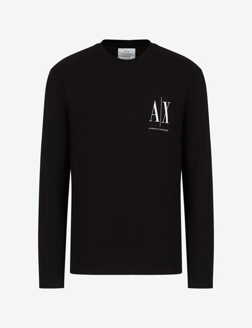 ARMANI EXCHANGE t-shirt manica lunga logo AX-4