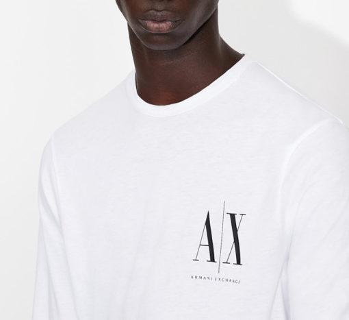 ARMANI EXCHANGE t-shirt manica lunga logo AX-3