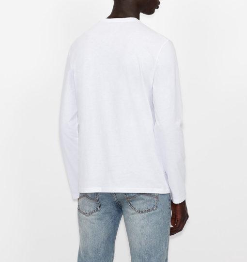 ARMANI EXCHANGE t-shirt manica lunga logo AX-6