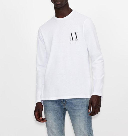 ARMANI EXCHANGE t-shirt manica lunga logo AX-1