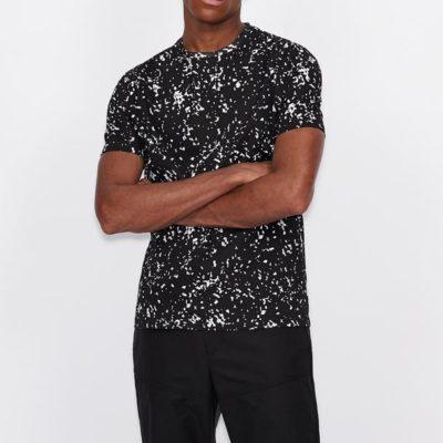 Armani Exchange t-shirt uomo in fantasia