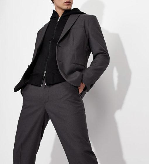 ARMANI EXCHANGE pantalone micro-quadretto da uomo-5