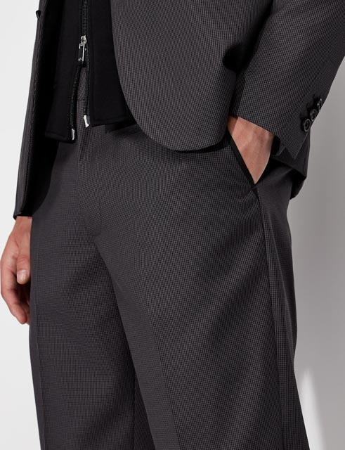 ARMANI EXCHANGE pantalone micro-quadretto da uomo-3