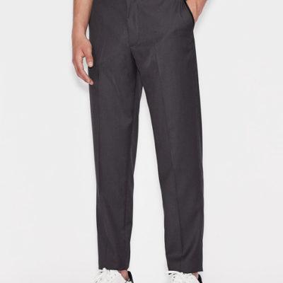 ARMANI EXCHANGE pantalone micro-quadretto da uomo