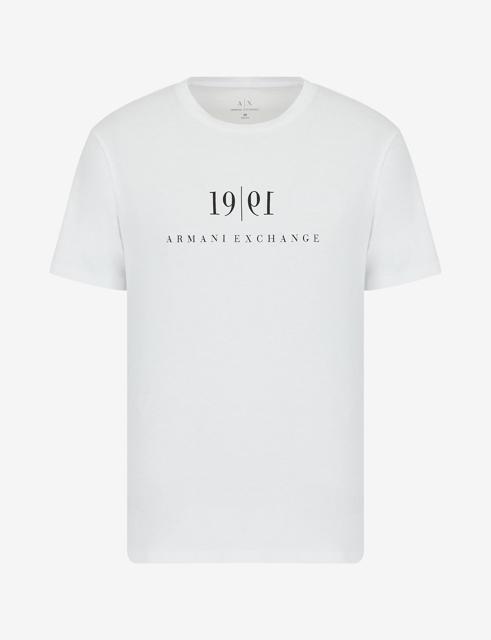 Maglietta tinta unita con scritta ARMANI EXCHANGE da uomo-12