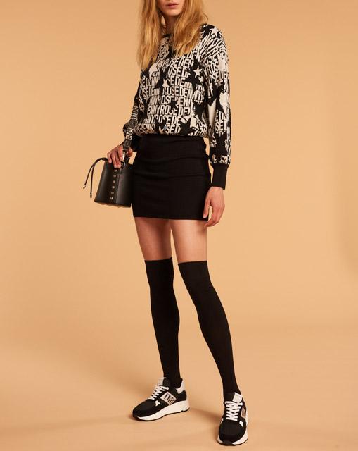 DENNY ROSE abito donna corto in maglia-1
